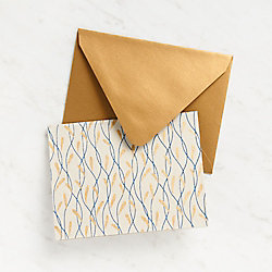 Gold Foil Seaweed Stationery