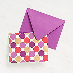 Large Gold And Purple Dots Stationery
