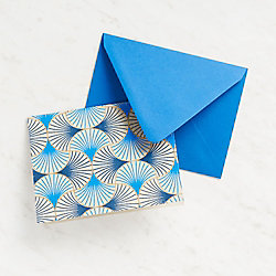 Blue and Gold Fans Stationery