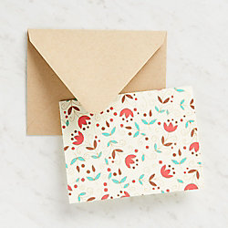 Floral Leaves On Ivory Stationery