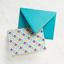 Abstract Repeat Blue Fans Stationery