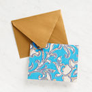 Elegant Blue and Gold Filigree Stationery