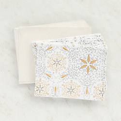 White Gold Silver Glitter Cards