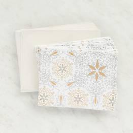 White Gold Silver Glitter Stationery Set
