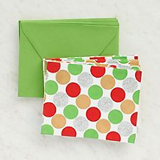 Red Green Silver Dot Cards