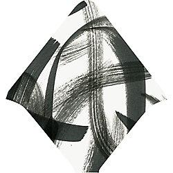 Black Brushstroke Print Envelope Liners