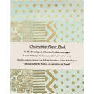 Mint & Gold Lokta Fine Paper Pack