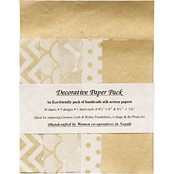 Gold & Cream Lokta Fine Paper Pack