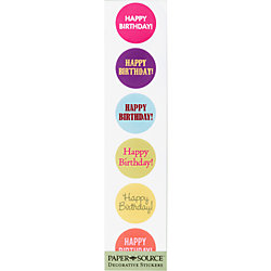 Happy Birthday Circle Stickers