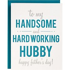 Handsome Hardworking Letterpress Father's Day Card