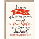 Husband Partner Letterpress Father's Day Card