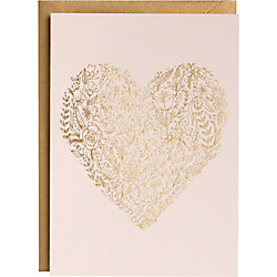 Sketch Floral Heart A6 Foil Card