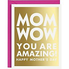 Wow A2 Foil Mother's Day Card