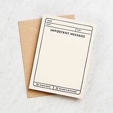 Important Message Flat Note Cards