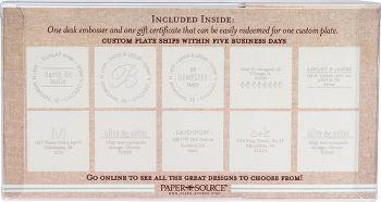 Order custom paper embosser gift set