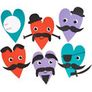 Mustache Valentine Card Craft Kit