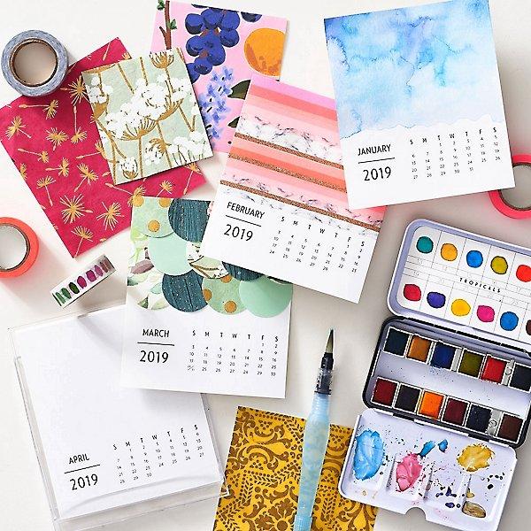 February 2019 Calendar Paper Source DIY Calendar Workshop | Paper Source