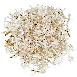 White & Gold Shredded Paper