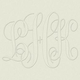 Keepsake Top Load Custom Monogram Embossing Plates