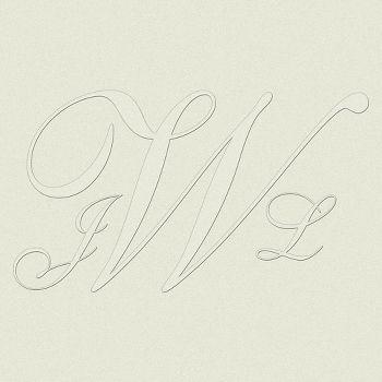 Shelley Top Load Custom Monogram Embossing Plates