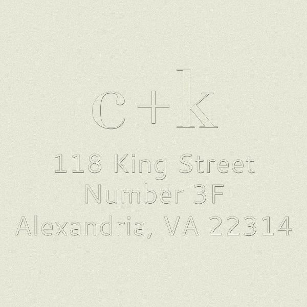 Lowercase Initials Return Address Embosser