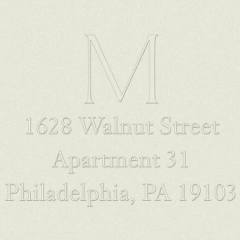 Single Monogram Return Address Embosser