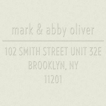 Lowercase with Ampersand Return Address Embosser