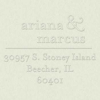 Ampersand Return Address Embosser