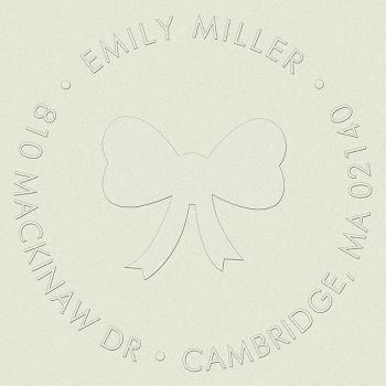 Bow Girl Return Address Embosser