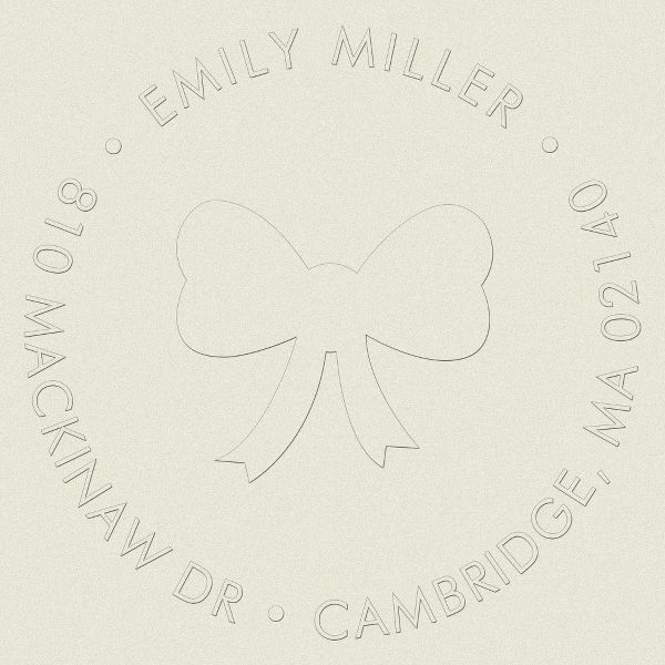 Bow Girl Return Address Embosser
