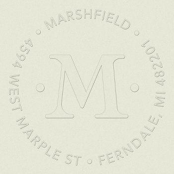 Single Initial Monogram Return Address Embosser