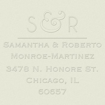 Modern Ampersand Return Address Embosser