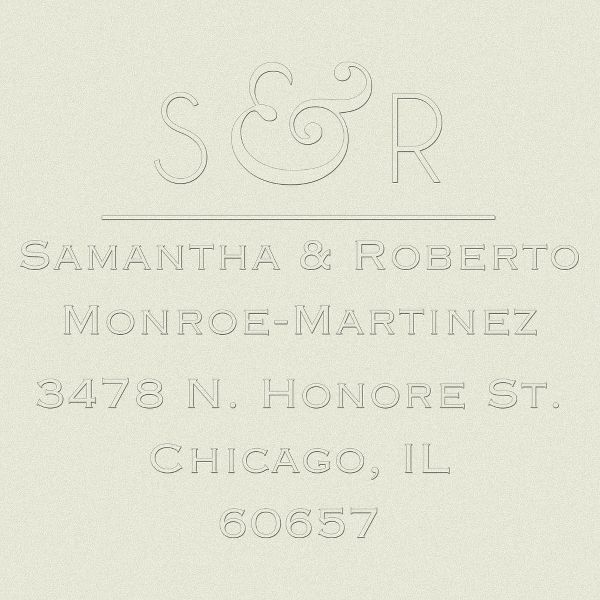 Modern Ampersand Return Address Embosser