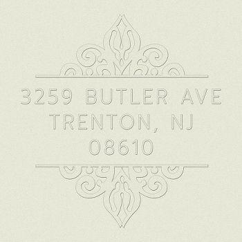 Ornate Return Address Embosser