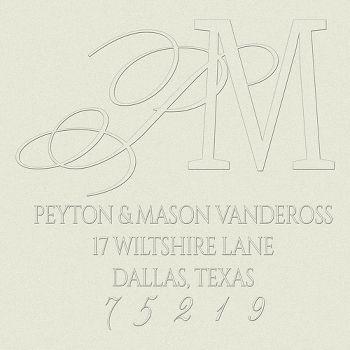 Serif Script Pair Address Return Address Embosser