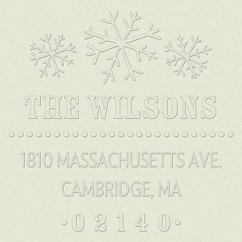 Snowflake Return Address Embosser