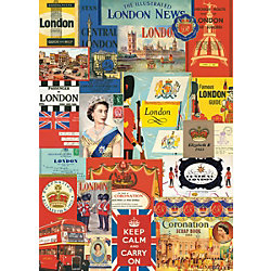 Cavallini London Wrapping Paper