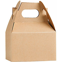 Kraft Mini Gable Boxes