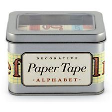 Cavallini Alphabet Paper Tape