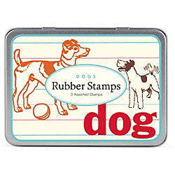 Cavallini Dogs Rubber Stamp Set
