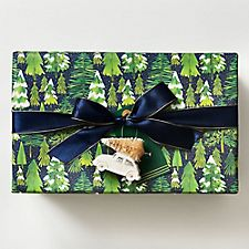 Snowy Trees Wrapping Paper