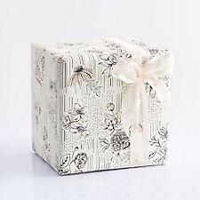 Black and White with Coral Floral Wrapping Paper