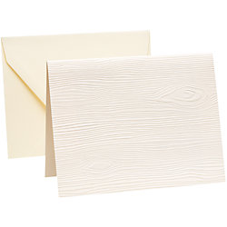 Faux Bois A2 Embossed Stationery