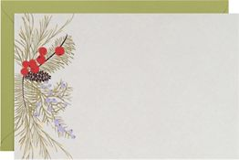 Pine Bough A9 Printable Party Invitations