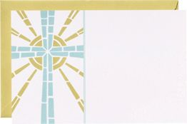 Stain Glass Cross A9 Printable Party Invitations
