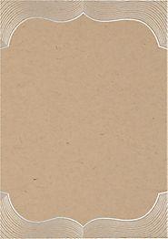 Paper Bag Foil Bracket A7 Printable Wedding Invitations