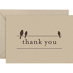 Birds On Wire 4 bar Thank You Notes
