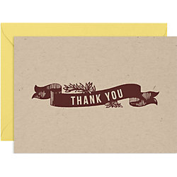 Homestead 4 bar Thank You Notes