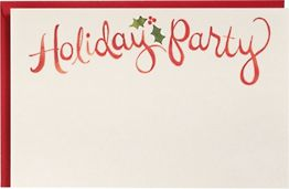 Watercolor Holiday A9 Printable Party Invitations