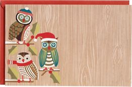 Holiday Owliday A9 Printable Party Invitations